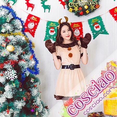38861330487 2018 サンタ衣装 トナカイ風 サンタコス通販 クリスマスコスプレ サンタコスかわいい サンタ女子 サンタ服